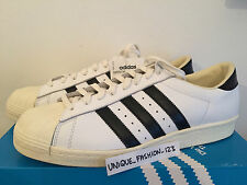 ADIDAS CONSORTIUM SUPERSTAR VINTAGE MADE IN FRANCE UK 11 US 11.5 46 80S OG WHITE