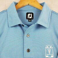 FOOTJOY x BLACKWOLF RUN Size XL Mens Golf Polo Shirt Light Blue Striped  FJ