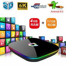 SMART TV BOX Q PLUS ANDROID 9.0 4GB RAM 32GB UHD 6K H.265 IPTV WIFI S905X2 1080P