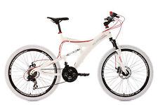 """VTT Tout Suspendu Alu 26"""" Topspin Blanc Vélo Neuf TC 51 cm KS Cycling 187M"""