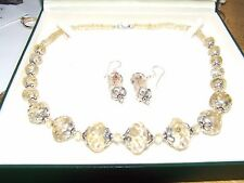 Stunning HUGE citrine necklace & earrings..424  carats total!