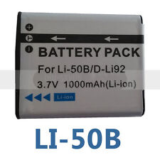 LI-50B Battery for OLYMPUS Tough Stylus  SW 1020 1030 SW SP-810 TG-630