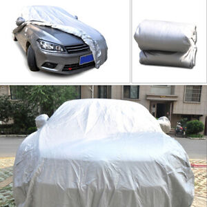 XL Full Car Cover Gray For Truck SUV Van WaterProof In Out Door Car Accessories