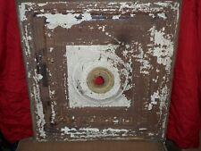 "Vintage Antique Metal Tin Ceiling Tile 24""X24"" Reclaim Salvage for light fixture"