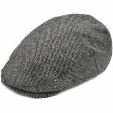 Quality Flat Cap Herringbone Tweed Hat Men Gatsby Newsboy Flat Cap  Wool Mix UK