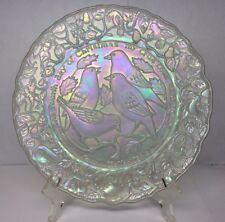 Imperial Glass 12 Days of Christmas 1973 Plate 4th Day 4 Colly Birds White Mib