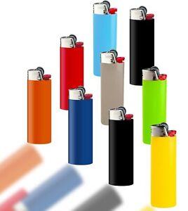BIC Maxi J26 Mix Feuerzeug Reibrad Feuerzeuge Flints Zündstein viele Farben