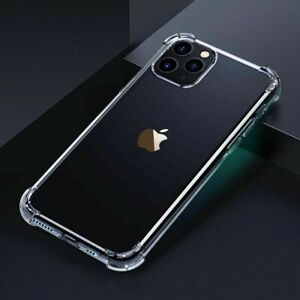 Crystal Clear TPU Protective Bumper Case for iPhone 11 12 13 Pro Max XR X 7 8 SE