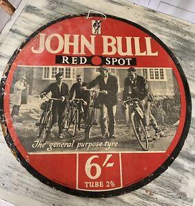 Rare John Bull Red Spot  Showcard Advertising The General Purpose Tyre Automobi.