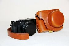 brown leather camera case bag for Panasonic LUMIX LX100 INTEGRATED LEICA DC LENS