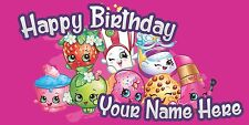 Birthday banner Personalized 4ft x 2 Shopkins