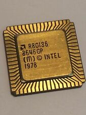 AMD R80186 FLAT PACK GOLD CERAMIC CHIP COLLECTABLE VINTAGE PROCESSOR    fba10a60