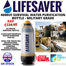 More details for lifesaver® 4000uf water purification drinking bottle - ultimate survival +spares