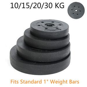 """10KG 15KG 20KG Weight Plates Set for Gym Barbell Vinyl 1"""" Standard Home Dumbbell"""