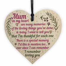 Mum Gifts From Daughter Son Wood Heart Plaque Birthday Christmas Thank You Gift
