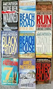 JAMES PATTERSON PAPERBACK 9 BOOK LOT THRILLER CRIME MYSTERY FREE SHIPPING