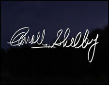 Carroll Shelby firma coche decal pegatina de vinilo Ac Cobra Mustang Ford Gt V8