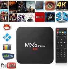 MXQ 4K Quad Core Android 7.1 TV Box HD Pro Smart Media Player HDMI 2.0 WI-FI NUOVO