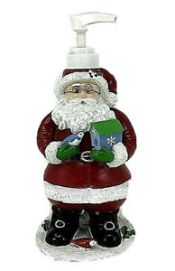 Santa Claus with Wire Glasses Soap or Lotion Dispenser W Christmas Gifts Resin