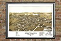 Old Map of Waupun, WI from 1885 - Vintage Wisconsin Art, Historic Decor