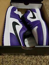 Jordan 1 low court purple 553558-500 size 10.5