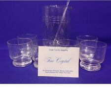 Princess House  Etched Martini Pitcher (#407) And 6 Glasses Set In Original Box