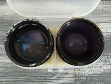 Conversion Lenses For Camcorder Telephoto And Wide Angle