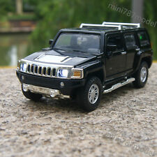 1:32 Hummer H3Model Cars Off-road Vehicles Black Sound&Light Alloy Diecast Gifts