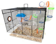 2-Floors Acrylic Clear Syrian Hamsters Rodent Gerbil Mouse Mice Habitat Cage
