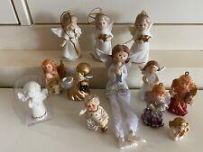 Deko 12 Engel Figuren 3,5-9 cm Dekoration Kantenhocker Schutzengel Porzellan