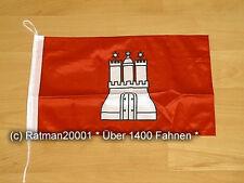 Fahnen Flagge Hamburg Bootsfahne Tischwimpel - 27 x 40 cm