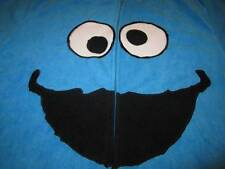 Original Sesame Street COOKIE MONSTER Adult Footed Pajamas Med One Piece Costume