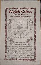 TRADITIONAL WELSH CAKES RECIPE TEA TOWEL WALES BIRHDAY CHRISTMAS RUGBY KITCHEN