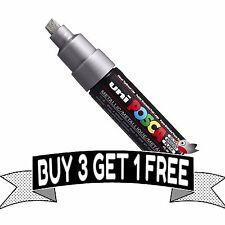 POSCA Marker Pen PC-8K Silver Broad Chisel TIP 8mm Line - **BUY 4 PAY FOR 3**