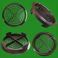 100 marron Vivarium Reptile Push Fit Rond Aération, 80mm 70mm Hole, Ventilation