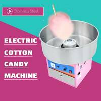Electric Commercial Cotton Candy Machine Sugar Floss Maker Pink Party Carnival