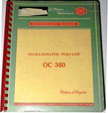 Documentation de l'oscillographe portatif CRC OC360