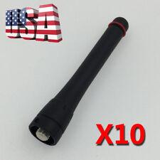 "10X UHF Stubby Antenna FA-SC73US for ICOM IC-F4000 F4101 F4161 F4162 Radios 3.3"""