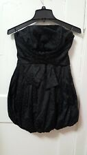 Women's Bebe Black Puffer Dress Party Size Small S