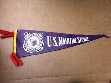 Vintage US United States Maritime Service Felt Pennant