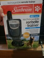 New listing Sunbeam Rechargeable Remote Trainer Static 400 Yds Waterproof Tech & Train Nob