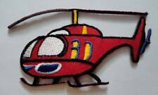Cute Pretty Red Helicopter For Kids Embroidered Iron on Patch Free Shipping