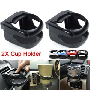 2Pcs Universal Auto Car Truck Air Vent Bottle Can Drink Cup Holder Rack Mount UK