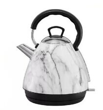 Marble Shade Electric KETTLE Auto Metal Stainless Steel Kitchen Dine Decor Gift