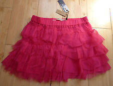 BNWT Stunning DKNY Donna Karan Pink 100% Silk Skirt, Size 12 yrs, RRP £100+ New!