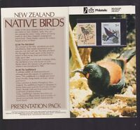 New Zealand Native Birds Presentation Set Stamps $3 & $4 Stitchbird Saddleback