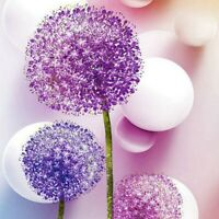5D Full Drill Purple Flower Diamond Painting Embroidery Cross Stitch Kits Decors