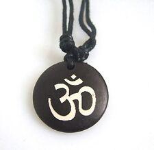 Resin Necklace OM Handmade Tibetan Tribal Unisex Men Women Taoism Aum Yoga Yogi