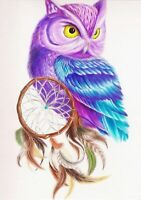 DIY Diamond Painting 5D Part Drill Owl Embroidery Cross Stitch Kits Mural Decor