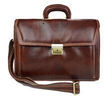 Borsa pelle valigetta 24 ore uomo donna cartella portadocumenti marrone